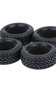 Geral RC Tires Pneu RC Carros / Buggy / Caminhões Vermelho Preto Verde Borracha pet Plástico 4PCS