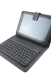 motif d'impression pu étui en cuir avec clavier Bluetooth pour iPad mini-1/2/3/4 et 78 pouces Tablet universel (couleurs assorties)