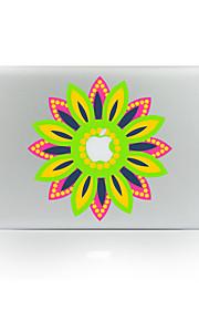 1枚 傷防止 フラワー 透明ベースプラスチック ボディーステッカー パターン 発光性 のためにMacBook Pro 15'' with Retina MacBook Proの15 '' MacBook Pro 13'' with Retina MacBook Proの13