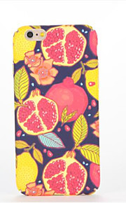 For Embossed Pattern Case Back Cover Case Fruit Hard PC for Apple iPhone 7 Plus iPhone 7 iPhone 6s Plus iPhone 6 Plus iPhone 6s iPhone 6