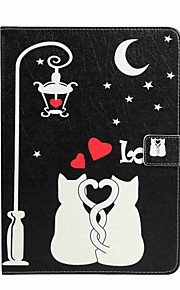 For Samsung Tab A 10.1 (2016) Card Holder Wallet with Stand Flip Pattern Case Full Body Case Cat Hard PU Leather