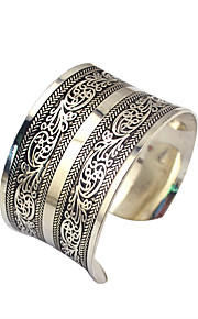 Dame Manchetarmbånd Smykker Mode Vintage Legering Geometrisk form Sølv Smykker For Speciel Lejlighed 1 Stk.