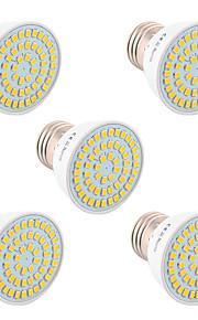 5W GU10 GU5.3(MR16) E26/E27 LED-spotpærer 54 SMD 2835 400-500 lm Varm hvit Kjølig hvit Naturlig hvit Dekorativ V 5 stk.