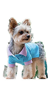 犬用品 Tシャツ 犬用ウェア 夏 ゼブラプリント キュート ファッション カジュアル/普段着 ブルー