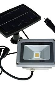 youoklight 1pcs 10w 24v varm hvit / kald hvit 3000K / 6000K 900lm solenergi ledet flom lys vanntett utendørs landskap spotlight