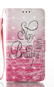 For Samsung Galaxy A3 A5 (2017) Case Cover Beautiful Letters Pattern Glare 3D Dimensional Glossy PU Material Stent Card Holster A3 A5 (2016)