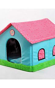 Kot Pies Łóżka Zwierzęta domowe Koszyki Patchwork Rysunek Měkké Namiot Beige Niebieski Różowy