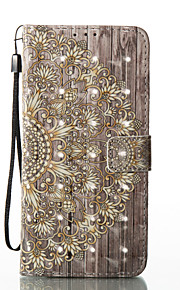 For Samsung Galaxy S8 Plus S8 Case Cover Golden Flower Pattern Glare 3D Dimensional Glossy PU Material Stent Card Holster S7 S6 (Edge) S7 S6 S5
