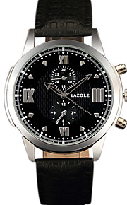 YAZOLE Men's Dress Watch Fashion Watch Wrist watch Casual Watch Chinese Quartz PU Band Cool Casual Unique Creative Black Brown Black Brown