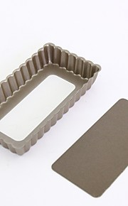 Two Pieces SET 4 inch Mini pie cake pan non stick rectangle cake mould removable bottom