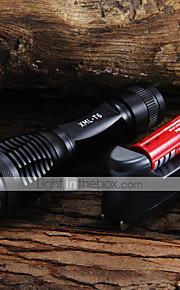 LED Lommelygter Lommelygter LED 2000 Lumen 5 Tilstand Cree XM-L T6 18650 AAA Justerbart FokusCamping/Vandring/Grotte Udforskning