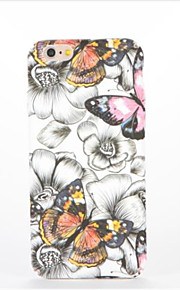 For Embossed Pattern Case Back Cover Case Butterfly Hard PC for Apple iPhone 7 Plus iPhone 7 iPhone 6s Plus iPhone 6 Plus iPhone 6s iPhone