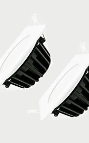 zdm 2pcs 7W לעמעום עמעום הובילו מנורה 600-650lm IP65 עמיד למים לבן מרובע ac220v