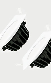 ZDM 2PCS 7ワットの調光可能600-650lm IP65防水白い四角LEDランプ調光AC220V