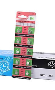 TMI AG4 Coin & Button Cell Alkaline/Alkaline Battery 1.55V 40 Pack