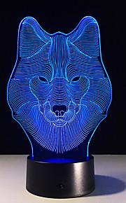 dier wolf decor 3D LED nightlights kleurrijk wolf design tafellamp Teen Wolf illusie lichten slaapkamer modern decor