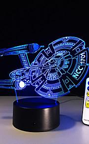 Nieuwe 3D slagschip ruimtevaartuig geleid illusie mood lamp slaapkamer tafellamp nacht licht bulbing kind kinderen vrienden man familie