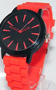 Mulheres Relógio de Moda Quartzo Silicone Banda Casual Vermelho Verde Rosa Vermelho Verde Rosa claro