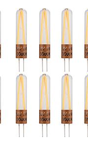 2W G4 LED-lamper med G-sokkel T 2 COB 170 lm Varm hvit Kjølig hvit Dekorativ AC220 V 10 stk.