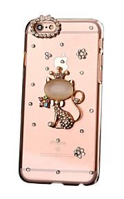 För Strass GDS (Gör det själv) fodral Skal fodral Katt Hårt PC för AppleiPhone 7 Plus iPhone 7 iPhone 6s Plus iPhone 6 Plus iPhone 6s