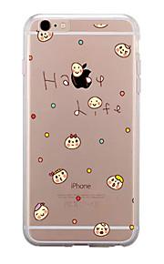 För Genomskinlig Mönster fodral Skal fodral Tecknat Mjukt TPU för AppleiPhone 7 Plus iPhone 7 iPhone 6s Plus iPhone 6 Plus iPhone 6s