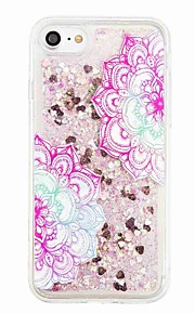 För Flytande vätska Mönster fodral Skal fodral Glittrigt Blomma Mjukt TPU för AppleiPhone 7 Plus iPhone 7 iPhone 6s Plus iPhone 6 Plus