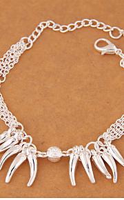 Dame Charm-armbånd Mode Legering Sølv Smykker For Fest 1 Stk.