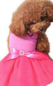 개 드레스 강아지 의류 여름 프린세스 귀여운 캐쥬얼/데일리 레드