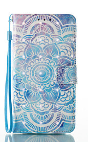 For Samsung Galaxy A3 A5 (2017) Case Cover Mandala Pattern Glare 3D Dimensional Glossy PU Material Stent Card Holster A3 A5 (2016)