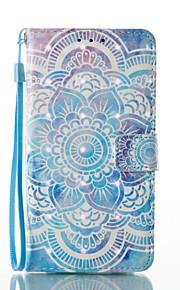 Para Cartera Soporte de Coche con Soporte Flip Diseños Magnética Funda Cuerpo Entero Funda Mandala Dura Cuero Sintético para SamsungA3