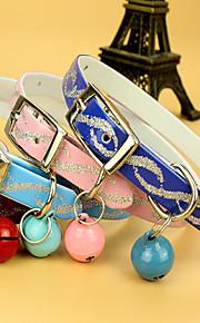 Katter Hundar Halsband Justerbara/Infällbar Träning Löpning Hands free Andningsfunktion Säkerhet Trumpet Solid PU Läder Ros Röd Blå Rosa