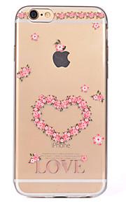 För Genomskinlig Mönster fodral Skal fodral Hjärta Mjukt TPU för AppleiPhone 7 Plus iPhone 7 iPhone 6s Plus iPhone 6 Plus iPhone 6s