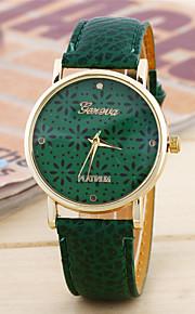 Mulheres Relógio de Moda Quartzo Couro Banda Casual Branco Azul Verde Branco Azul Claro Verde