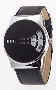 גברים לנשים שעוני ספורט שעוני שמלה שעוני אופנה שעון יד Chinese קווארץ עור אמיתי להקה מזל יום יומי יצירתי צבעוני לבן שחור