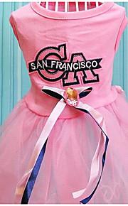 Perros Vestidos Ropa para Perro Verano Princesa Adorable Moda Casual/Diario Azul Rosa