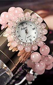 Mulheres Relógio de Moda Quartzo Verde caçador Banda Rosa Rosa claro