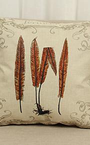 1 Stk. Linned Pudebetræk,Blomster Med Tekstur Grafiske tryk Moderne / Nutidig Land Andre