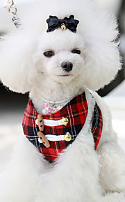 Hundar Selar Andningsfunktion Säkerhet Solid Tyg Röd