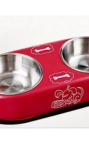 Perro Alimentadores Mascotas Cuencos y Alimentación Rojo Azul