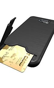 Для Бумажник для карт Защита от удара Кейс для Задняя крышка Кейс для Один цвет Твердый PC для Samsung J7 (2017) J5 (2017) J3 (2017)