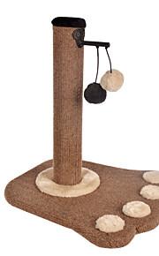 猫用おもちゃ ペット用おもちゃ インタラクティブ 耐用的 スクラッチマット ウッド シザル麻