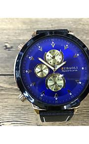 JUBAOLI Masculino Relógio Esportivo Quartzo Couro Banda Legal Preta Dourado Branco Azul Escuro Vermelho