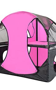 ネコ ベッド ペット用 バスケット 純色 折り畳み式 テント ローズ