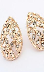 Stangøreringe Smykker Personaliseret Euro-Amerikansk Mode Rhinsten Legering Smykker Smykker For Bryllup Speciel Lejlighed 1 Par