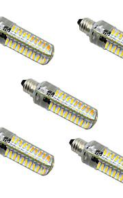 5W E14 E12 E17 E11 BA15d LED-lamper med G-sokkel T 80 SMD 4014 400-500 lm Varm hvit Kjølig hvit Dimbar AC 220-240 V 5 stk.