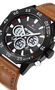 NAVIFORCE Masculino Relógio Esportivo Relógio de Moda Relógio de Pulso Relógio Casual Quartzo Calendário Couro Legitimo BandaLuxuoso