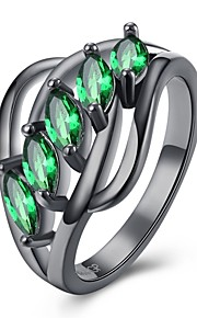 Ring Krystal Kvadratisk ZirconiumEnkelt design Unikt design Hjerte Geometrisk Venskab Yndig Personaliseret Hip-hop Hypoallergenisk