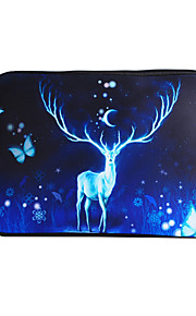 For MacBook Air / Pro / Retina 13 inch Universal Laptop Sleeves Oil Painting Elk Pattern Canvas Material