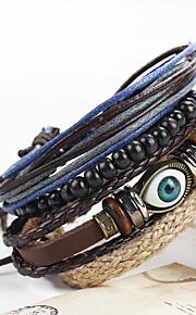 Dame Herre Læder Armbånd Mode Vintage Håndlavet Læder Cirkelformet Smykker For Speciel Lejlighed Fødselsdag Sport Julegaver 1 sæt