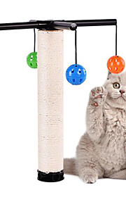 Игрушка для котов Игрушки для животных Интерактивный Прочный Когтеточка Пластик сизаль